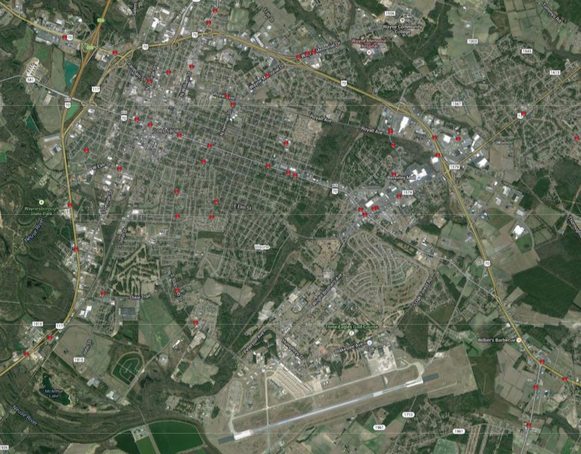 Goldsboro Map